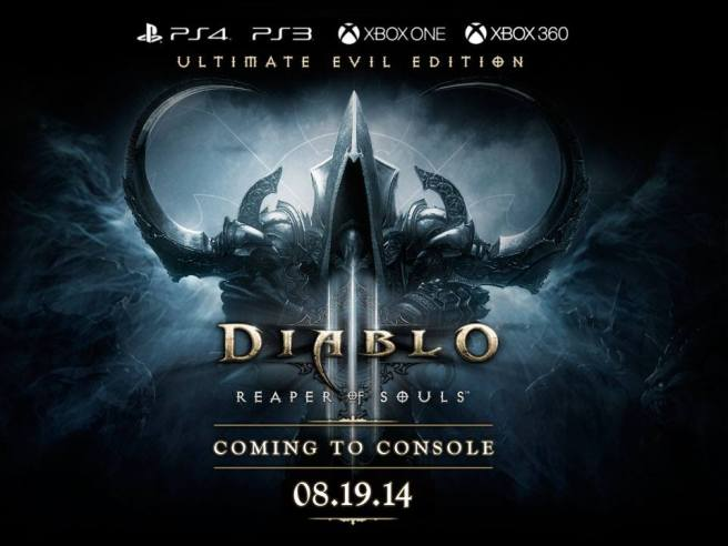 Diablo III: Reaper of Souls - Ultimate Evil Edition Coming to Console August 19th
