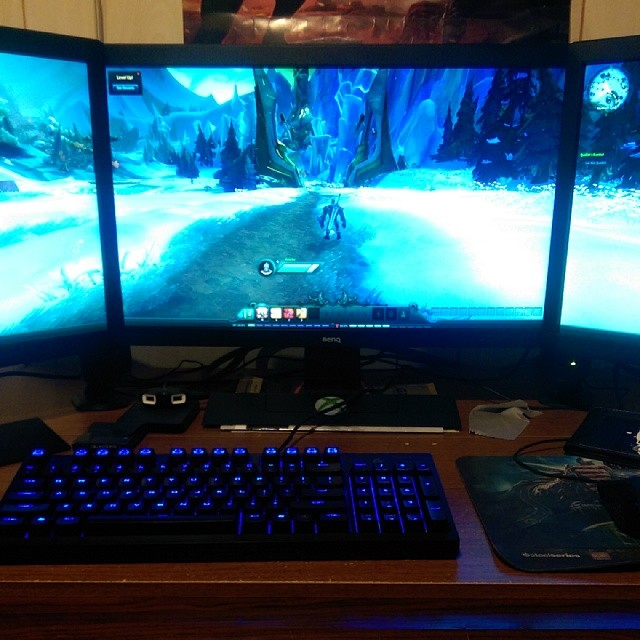 @WildStar with #nvidia #surround is #2sexy it's 2sexy for my pants it's to sexy for my shirt it's so sexy baby. Teehee. :D