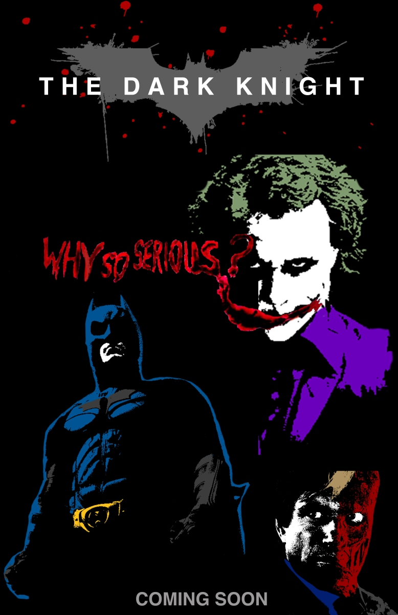 type dark knight poster