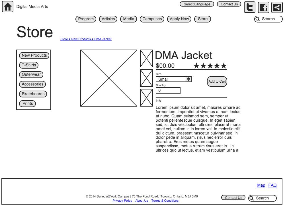 DMA Store Single Product
